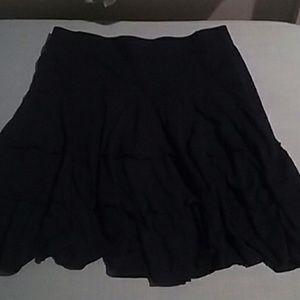 Dark Blue RL Layered Skirt